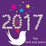 Nuevo año-nuevo year-2017 feliz Fotos de archivo libres de regalías