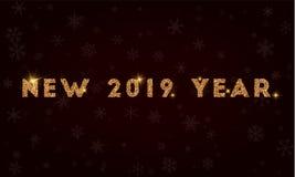 Nuevo 2019 años Foto de archivo libre de regalías