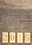Nuevo 2015 años Imágenes de archivo libres de regalías