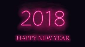 Nuevo 2018 años feliz ilustración del vector
