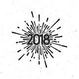 Nuevo 2018 años feliz Imagen de archivo libre de regalías