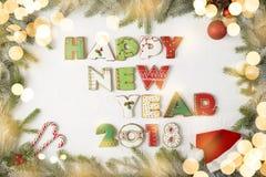 Nuevo 2018 años feliz Imagenes de archivo