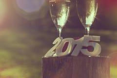 Nuevo 2015 años feliz Fotografía de archivo libre de regalías