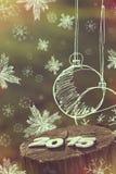 Nuevo 2015 años feliz Foto de archivo libre de regalías