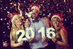 Nuevo 2016 años feliz Imagenes de archivo