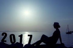 Nuevo 2017 años feliz Imagenes de archivo