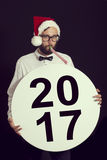 Nuevo 2017 años feliz Imagen de archivo libre de regalías