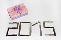Nuevo 2015 años feliz con las grapas Foto de archivo libre de regalías