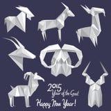 ¡Nuevo 2015 años feliz de la cabra! Imagen de archivo