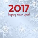 Nuevo 2017 años Grey Background Imágenes de archivo libres de regalías