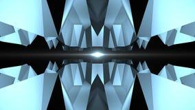 Nuevo agradable fresco dinámico hermoso retro único de la cueva del vuelo del lazo del fondo inconsútil azul poligonal bajo abstr stock de ilustración