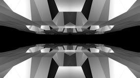 Nuevo agradable fresco dinámico hermoso retro único de la cueva del vuelo del lazo del fondo inconsútil poligonal bajo abstracto  ilustración del vector