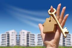 Nuevo apartamento de compra Imagen de archivo libre de regalías