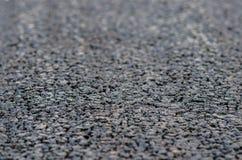 Nuevo asfalto, superficie de la carretera Imagen de archivo libre de regalías