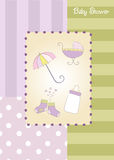 Nuevo aviso de la ducha de bebé Foto de archivo libre de regalías