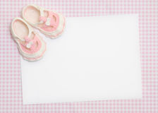 Nuevo aviso del bebé fotos de archivo libres de regalías
