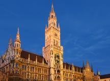 Nuevo ayuntamiento de Munchen Imagenes de archivo