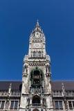 Nuevo ayuntamiento de Munich en Marienplatz, Alemania, 2015 Foto de archivo