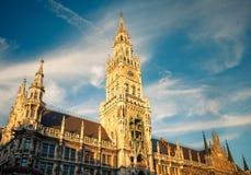 Nuevo ayuntamiento en Munchen Imagenes de archivo