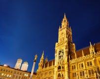 Nuevo ayuntamiento en Munich Fotografía de archivo