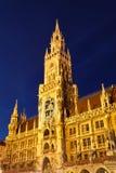 Nuevo ayuntamiento en Munich Imagen de archivo