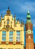 Nuevo ayuntamiento en Wroclaw, Polonia fotos de archivo libres de regalías