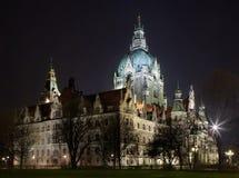 Nuevo ayuntamiento Hannover la ciudad Imagen de archivo libre de regalías