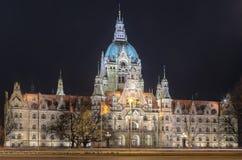 Nuevo ayuntamiento Hannover la ciudad Fotos de archivo libres de regalías
