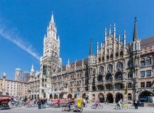 Nuevo ayuntamiento Munich Alemania Imagen de archivo libre de regalías