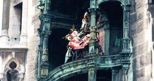 Nuevo ayuntamiento, torre de reloj, torre de reloj, marionetas Alemania, Munich de la danza,