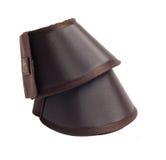Nuevo Bellboots marrón para el caballo aislado en blanco Imagen de archivo