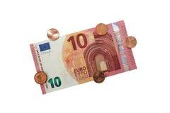Nuevo billete de banco 2014 del euro 10 Imagenes de archivo
