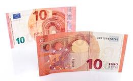 Nuevo billete de banco del euro diez fotos de archivo libres de regalías