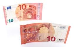Nuevo billete de banco del euro diez fotografía de archivo libre de regalías