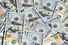 Nuevo billete de dólar 100 Fotos de archivo