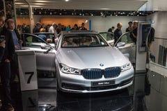Nuevo BMW 740Le en el IAA 2015 Fotos de archivo