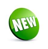 Nuevo botón verde Imágenes de archivo libres de regalías