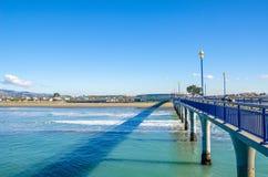 Nuevo Brighton Pier en Christchurch, Nueva Zelanda Foto de archivo libre de regalías