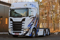 Nuevo camión de Scania S500 en Finlandia Fotografía de archivo libre de regalías