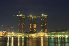 Nuevo casino y centro turístico de Singapur Imagenes de archivo