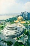 Nuevo centro de ciudad de Hangzhou Qianjiang, pasando por alto el ¼ Œin China del landscapeï imágenes de archivo libres de regalías
