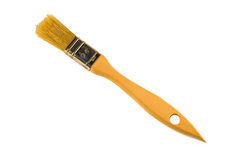 Nuevo cepillo de pintura aislado en el fondo blanco Fotografía de archivo