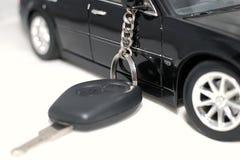 Nuevo clave del coche Foto de archivo libre de regalías