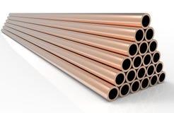 Nuevo cobre de los tubos Foto de archivo libre de regalías