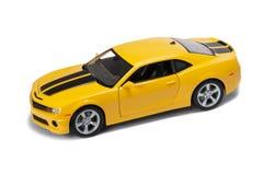 Nuevo coche amarillo del modo Foto de archivo libre de regalías