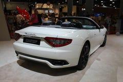 Nuevo coche de deportes convertible italiano en el salón del automóvil Fotos de archivo