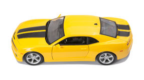 Nuevo coche modelo amarillo Foto de archivo