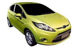 Nuevo coche verde Foto de archivo libre de regalías
