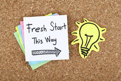 Nuevo comienzo esta manera Imagen de archivo libre de regalías