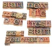 Nuevo comienzo, nueva vida, cambio de imagen Imagen de archivo libre de regalías
